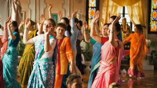 Donetsk, Ukraine -Devotees from Hare Krishna Dancing