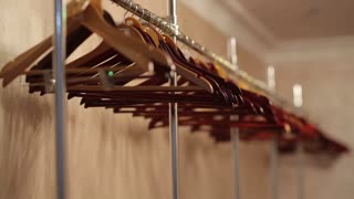 Empty Hangers In the wardrobe