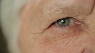 Eye of senior woman