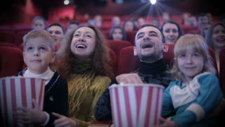 Frames of people watching movie in cinema