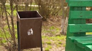 Garbage in a Trash Bin