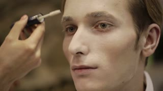 Make up of a man model