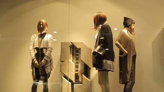 Mannequins In Fashion Clothes Shop