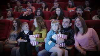 people watching movie in cinema