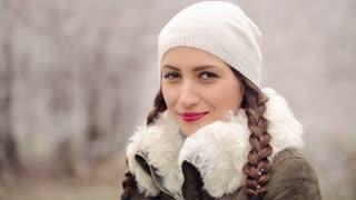 Portrait of Woman in Winter