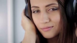 Portrait of Woman With Headphones