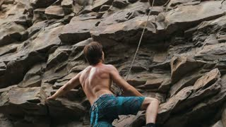 rock climber estimates mountain to climb