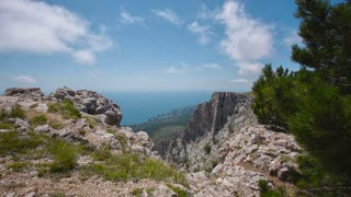 Scenic View of the Mountains and Sea Ai Petri