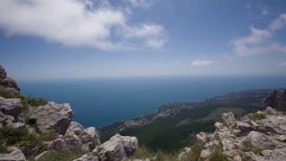 Scenic Views of the Sea From the Mountain Ai Petri