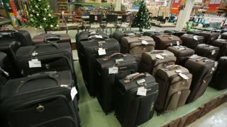 Suitcases at supermarket