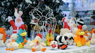 Toys undrer christmas tree at store