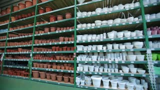 A flower pots at store