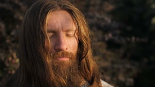 Bearded Man in Meditation