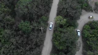 Car Moving on Mountain Road