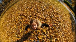 Cheerful little girl jumping