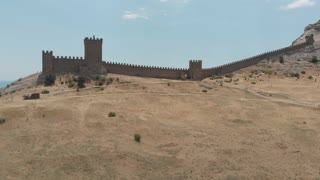Fortress wall aerial view