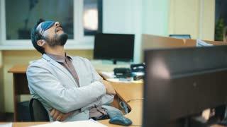 Office Worker sleeping at work