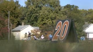 20 yard marker on childrens football field 4k