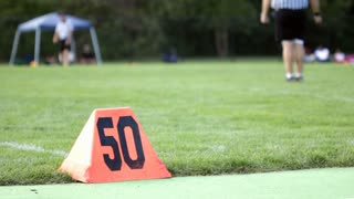 50 yard line at children football game