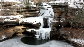 Above view of Frozen Waterfall