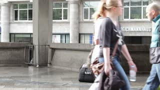 Accordion player in streets of Cologne Germany