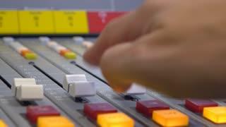 Adjusting sound board for live radio mix 4k