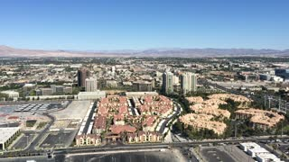 Aerial view of Las Vegas town