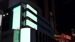 AEX index on stock ticker in downtown Times Square NYC 4k
