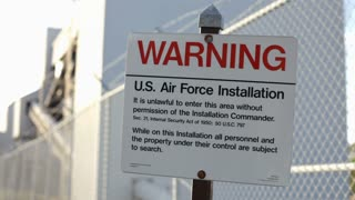 Air Force Installation Warning Sign
