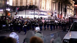 air force marching band in hermes parade mardi gras