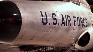 Aircraft in hanger of US Air Force Museum 4k