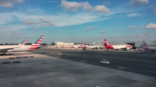 Airplanes at JFK international airport in New York City