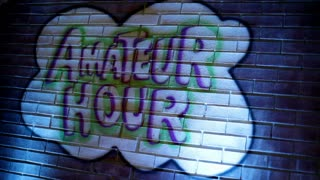 Amateur Hour Painted on Brick Wall Centered
