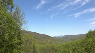 Amazing sky and valley going through Tennessee Mountains 4k