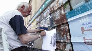 Amazing street artist in Venice Italy
