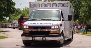 Ambulance in Firemans Parade 2014 4k
