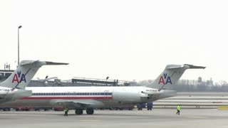 American Airlines at the Chicago airport