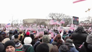 American flags waving at Inauguration