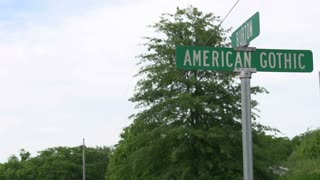 American Gothic Street sign