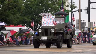 American Legion Post Commander in 4th of July Parade 4k