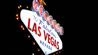 Angled View of Welcome To Las Vegas Sign