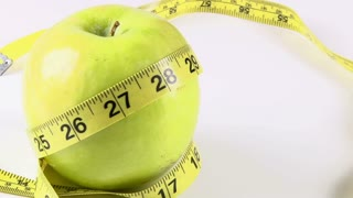 Apple with Tape Measure Rotates