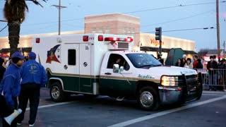 Arcadia ambulance in Endymion parade