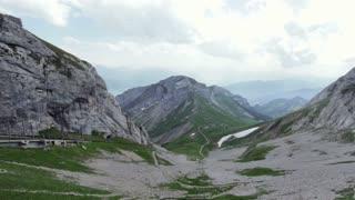 At the top of Mount Pilatus in Switzerland