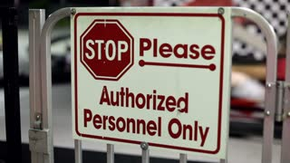 Authorized Personnel Only sign at Go Kart Track