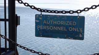 Authorized Personnel Only sign at Navy Pier Chicago 4k