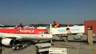 Avianca airlines at Sao Paulo Guarulhos International Airport 4k