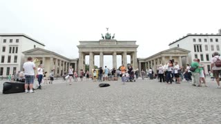 Band playing in front of Brandenburg Gate