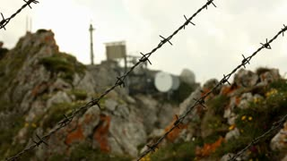 Barbwire keeping people from radar station