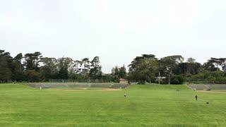 Baseball fields at outdoor park